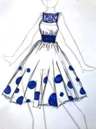 drawn fashion dress pencil and in color drawn fashion dress