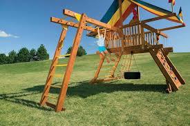 backyard playsets installation rainbow of the heartland
