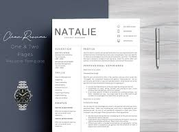 Picture Resume Template Resume Template 5 Pages Cv Resume Templates Creative Market