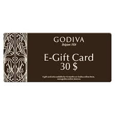 e gift card godiva chocolate e gift card 30 dollar delivery in europe