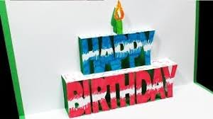 hmongbuy net easy pop up birthday cake card and candle