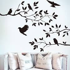 bibitime black tree branch decal 5 birds wall art sticker vinyl bibitime black tree branch decal 5 birds wall art sticker vinyl quotes crow wall decals mural