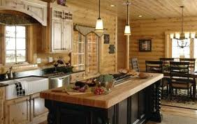 log cabin kitchen ideas cabin kitchen ideas log home kitchen with butcher block style island