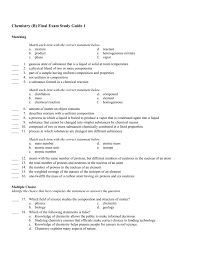 chemistry b final exam study guide 1