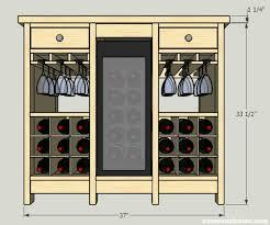 Wine Cabinet Furniture Refrigerator Diy Wine Credenza With Wine Refrigerator