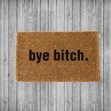 bye u2013 coco doormats modern u0026 elegant coir welcome mats