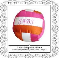 sewing patterns home decor volleyball pillow pdf sewing pattern diy home decor
