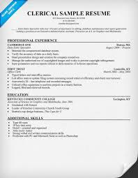 free resume template exles clerical resume sle resumecompanion com resume pinterest