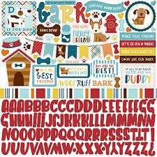 Dog Scrapbook Album Collection Element Sticker Dog Scrapbook 12 X 12 Sticker Sheet By