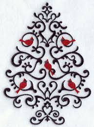 embroidered christmas christmas tree embroidery designs makaroka
