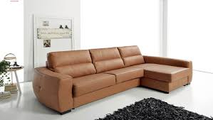 Left Sided Sectional Sofa Fashionable Sectional Sofa Design Model With Brown Genuine Leather