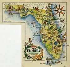florida map florida map ebay