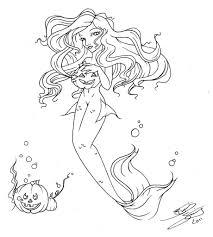 Halloween Drawing New Mermaid Halloween Drawing Babygaga