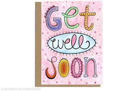 card for sick friend get well soon get well card hospital card surgery card get