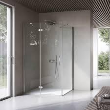 swing shower screen fixed for alcoves corner flipper
