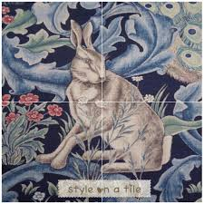 lovely arts and crafts william morris forest rabbit hare bunny lovely arts and crafts william morris forest rabbit hare bunny indigo design 4 x 6
