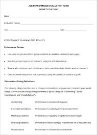 5 performance review templates free sample example format