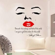 chambre marilyn marilyn stickers muraux lèvres stickers muraux de
