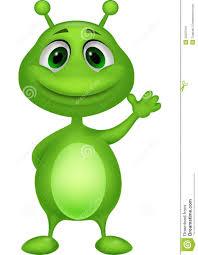 cute green alien cartoon stock photo image 33237010