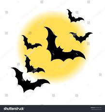 vector halloween vector halloween night moon horror bat stock vector 315541286
