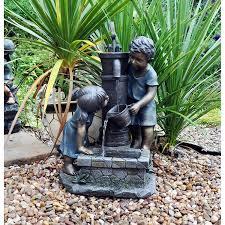 Water Rock Garden by Kingfisher Wf300 3 Tier Boy And Girl Rock Garden Water Feature