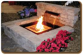 Fire Pit With Water Feature - fire features brick paver showroom of tampa bay