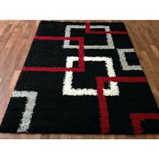 Modern Black Rugs Fascinating And White Area Rug Classof Co