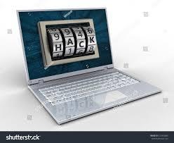 3d illustration laptop over white background stock illustration