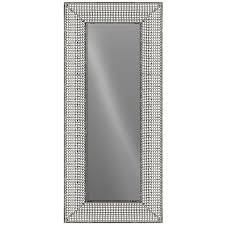 diamond lattice floor mirror at home at home