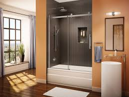 tub with glass shower door bathroom glass shower door sweep home depot home depot shower