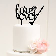 letter wedding cake toppers golf wedding cake topper fore letter silhouette cake toppers
