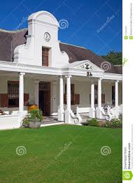 Style House by Cape Dutch Style House In Winelands South Africa Royalty Free