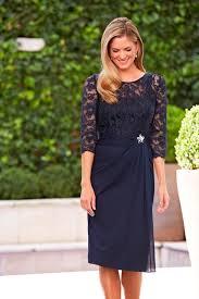 elegant navy blue mother of the bride dresses knee length plus