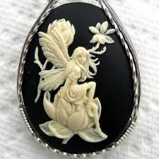 cameo necklace pendant images Fairy cameo pendants cameojewelryart artfire shop jpg