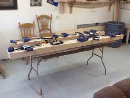 table top glue up work bench build 8 bench top glue up woodworkingweb