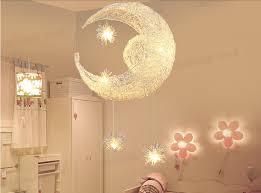suspension pour chambre egomall lune étoiles suspension lustres plafonnier avec 5 oules