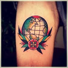 Arizona travel tattoos images Best 25 globe tattoos ideas world travel tattoos jpg