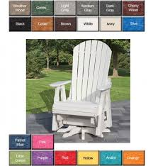 outdoor poly furniture poly concepts furniture swivel glider