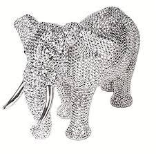silver colour diamante elephant figurine ornament bling