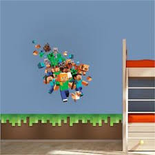 Minecraft Bedroom Decals by Minecraft Steve And Alex Bedroom Wall Stickers Minecraft Design