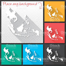 Southeastern Asia Map by Southeast Asia Map For Design Long Shadow Flat Design Stock Vector