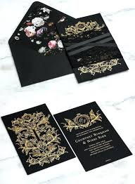 black and gold wedding invitations black and gold wedding invitations mounttaishan info