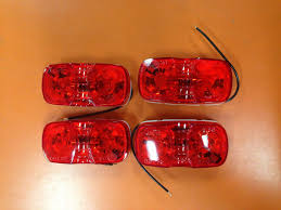 grote led trailer lights 4 grote 2 x 4 inch red bullseye light for trailers marker
