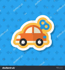 car toy icon vector flat long stock vector 372975226 shutterstock