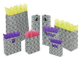 trellis design gray u0026 white mod gift bags u0026 shopping bags box