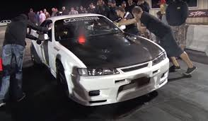 old nissan 240 nissan 240sx drag car pushing 1600 hp
