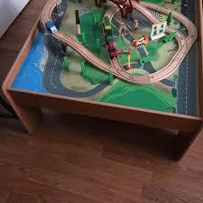 imaginarium train set with table 55 piece find more imaginarium 55 piece rail and road train set with table