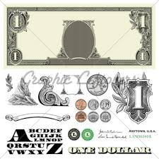 vector money and dollar ornaments gl stock images
