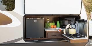 Camper Trailer Kitchen Ideas Flooring Camper With Outdoor Kitchen Jay Flight Travel Trailer