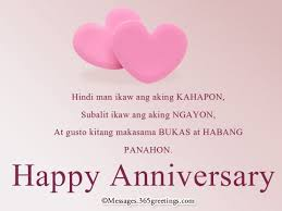 1st Anniversary Wishes Messages For Wife Tagalog Anniversary Messages Anniversary Message